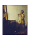 Woman with a Pearl Necklace, 1664 Giclee Print by Jan Vermeer