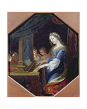 St. Cecilia Playing the Organ Giclee Print by Jacques Stella