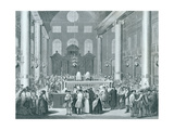 The Jewish Feast of Purim, or Lots in 1721, Engraved by W. Forrest, from 'World Religion',… Giclee Print by  Picart (After)