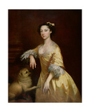 Lady with a Pug Dog Giclee Print by Joseph Highmore