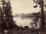 Beacon Rock, Columbia River, Usa, 1867 Photographic Print by Carleton Emmons Watkins