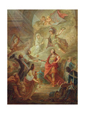 Louis Xvi (1754-93) Swearing Loyalty to the Constitution on the Altar of the Homeland Giclee Print by Nicolas Guy Brenet