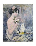 Woman with a Bouquet Giclee Print by Pierre Laprade