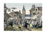 'Local Fetes around Paris', Series, 1830, Chatenay Giclee Print by Victor Adam