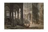 Merchant Selling Wine Inside the Basilica of Saint-Denis, 1809 Giclee Print by John Claude Nattes