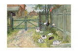 The Gate, from 'A Home' Series, C.1895 Giclee Print by Carl Larsson