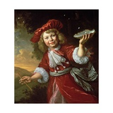 Homo Bulla: a Boy Blowing Bubbles, C.1665 Giclee Print by Bartolomeus Van Der Helst