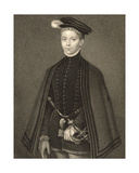 Portrait of Henry Stewart (1545-67) Lord Darnley, from 'Lodge's British Portraits', 1823 Giclee Print by Hans Eworth