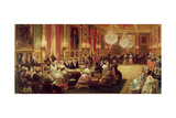 Concert in the Galerie Des Guise at Chateau D'Eu, 4th September 1843, 1844 Giclee Print by Eugene-Louis Lami