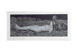 One Corpse, from the Cycle 'Death and the Maiden' Giclee Print by August Bromse