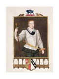 Portrait of Sir Francis Vere (1560-1609) from 'Memoirs of the Court of Queen Elizabeth',… Giclee Print by Sarah Countess Of Essex