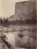 Mirror View of El Capitan, Yosemite, Usa, 1872 Photographic Print by Carleton Emmons Watkins