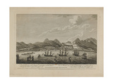 View of Roseau in the Island of Dominique, with the 1760 Attack Made by Lord Rollo (1703-65) and… Giclee Print by Archibald Campbell