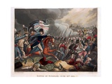The Duke of Wellington (1769-1852) with Troops Advancing at the Battle of Waterloo, Illustration… Giclee Print by William Heath