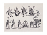 The Ten Avatars or Incarnations of Vishnu, Engraved by A. Thorn, from 'World Religion', Published… Lámina giclée