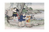 Goldfish from the Series 'Children's Games', 1888 Giclee Print by Kobayashi Eitaku