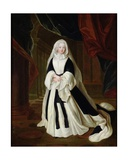 Portrait of Louis-Francoise De Bourbon (1673-1743) Mademoiselle De Nantes in Mourning Clothes,… Giclee Print by Louis de Silvestre