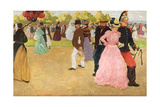 A Sunday Walk in the Bois De Boulogne, 1899 Giclee Print by Henri Jacques Edouard Evenepoel
