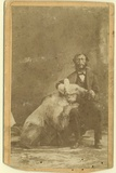 James Capen 'Grizzly' Adams (1807-60) Photographed with a Grizzly Bear Photographic Print