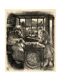 Alice and the Knitting Sheep, Illustration from 'Through the Looking Glass' by Lewis Carroll… Giclee Print by John Tenniel