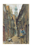 A Back Alley in Hamburg, 1891 Giclee Print by Franz Skarbina