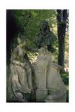 Monument Dedicated to Jean Antoine Watteau, 1896 (1684-1721) Giclee Print by Henri Desire Gauquie