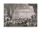 The General Assembly of the Church of Scotland as in 1783, Engraved by T. Brown, from 'World… Giclee Print by David Allan