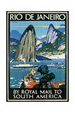 Poster Advertising Rio De Janeiro Giclee Print by Kenneth Shoesmith