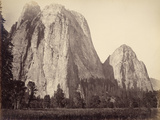 Cathedral Rock, Yosemite National Park, Usa, 1861-75 Photographic Print by Carleton Emmons Watkins