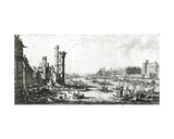 The Palais Du Louvre and the Tour De Nesle, Engraved by Perelle Giclee Print by Israel, The Younger Silvestre