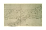 London Bridge, from 'The Panorama of London', C.1544 Giclee Print by Anthonis van den Wyngaerde