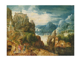 Mountainous Landscape with the Road to Emmaus, 1597 Giclée-Druck von Lucas van Valckenborch