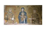 Madonna and Child Flanked by Emperor John II Comnenus (1087-1143) and the Empress Irene (C.752-803) Giclee Print