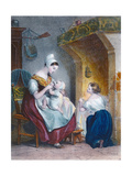 The Wetnurse Giclee Print by Achille Deveria