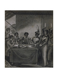 General Christophe at the Court Martial Which Sentenced the Author to Death, from 'An Historical… Giclee Print by Marcus Rainsford