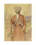 Study of an Afghan Warrior, Tehran, 1848 Giclee Print by Jules Joseph Augustin Laurens