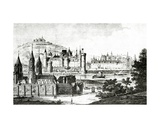 View of Saint-Germain-Des-Pres and of the Pre-Aux-Cleres During the Reign of Charles V, from… Giclee Print