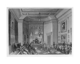 View of the Interior of Somerset House, Showing a Meeting of the Royal Antiquarian Society, C.1840 Giclee Print by Frederick William Fairholt