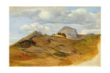 View of Civitella, 1822 Giclee Print by Heinrich Reinhold
