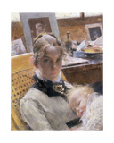 A Studio Idyll: the Artist's Wife and their Daughter Suzanne, 1885 Giclee Print by Carl Larsson