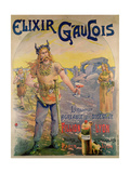 Poster Advertising 'Elixir Gaulois', 1895 Giclee Print by Georges Blott