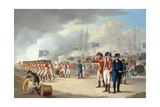 Landing of British Troops under Sir Ralph Abercromby (1734-1801) on the Island of Texel, Holland,… Giclee Print by Robert Dodd