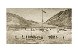 Fort Douglas Camp and Red Buttes Ravine Near Salt Lake City, Utah, 1870s, C.1880 Giclee Print by Reverend Samuel Manning
