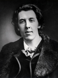 Portrait of Oscar Wilde (1854-1900) Wearing an Overcoat with a Fur Collar Bought for His Trip to… Photographic Print