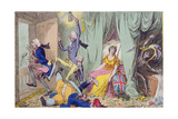 Britannia Between Death and the Doctor's Giclee Print by James Gillray
