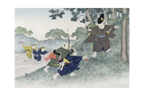 Playing at Warriors from the Series 'Children's Games', 1888 Giclee Print by Kobayashi Eitaku