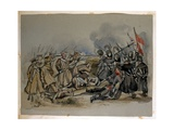A Conflict Between Guards and Russian Troops During the Crimean War, from an Album of Paintings… Giclee Print by George Cadogan