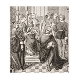 Queen Fredegond Gives Orders to Two Men of Terouanne to Assassinate Sigbert, King of Austrasia,… Giclee Print
