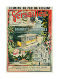 Poster Advertising the Electric Tram at Versailles Giclee Print