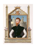 Portrait of Edward Courtenay (C.1526-56) Last Earl of Devonshire from 'Memoirs of the Court of… Giclee Print by Sarah Countess Of Essex